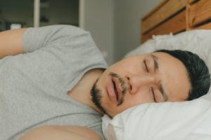 person snoring