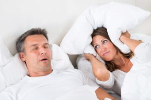 Man with untreated sleep apnea in Arlington Heights.